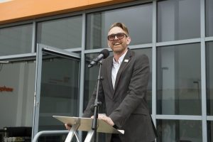 Martin Green addresses Smith & Nephew employees. Pictures: Hull News & Pictures Ltd