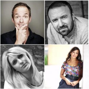 The new line-up (clockwise from top left): Ditchy, Steve Marsh, Janine Marsh and Fiona Sadler