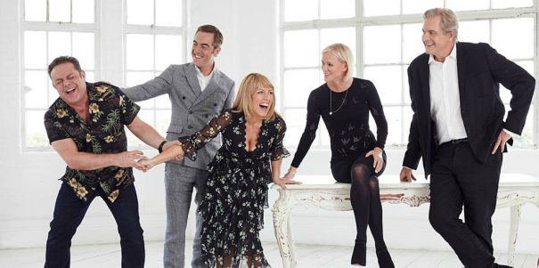 "This image is strictly embargoed until 09.00 Tuesday 26th July 2016  From Big Talk Productions  Cold Feet on ITV  Pictured: Pete Gifford [John Thomson], Adam Williams [James Nesbitt], Jenny Gifford [Fay Ripley], Karen Marsden [Hermione Norris] and David Marsden [Robert Bathurst].  It's been over ten years since we last caught up with the lives of Adam, Pete, Jenny, Karen and David.   Thirty-three episodes and five series later our favourite couples have earned themselves a place in television history and are now reunited together when Adam returns to Manchester having been abroad with work.   Creator Mike Bullen said: ""This feels like the right time to revisit these characters, as they tip-toe through the minefield of middle age!""   This photograph is (C) ITV Plc and can only be reproduced for editorial purposes directly in connection with the programme or event mentioned above, or ITV plc. Once made available by ITV plc Picture Desk, this photograph can be reproduced once only up until the transmission [TX] date and no reproduction fee will be charged. Any subsequent usage may incur a fee. This photograph must not be manipulated [excluding basic cropping] in a manner which alters the visual appearance of the person photographed deemed detrimental or inappropriate by ITV plc Picture Desk.  This photograph must not be syndicated to any other company, publication or website, or permanently archived, without the express written permission of ITV Plc Picture Desk. Full Terms and conditions are available on the website www.itvpictures.com  For further information please contact: james.hilder@itv.com / 0207 157 3052"