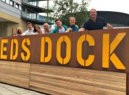 Some of the Hatch team at Leeds Dock