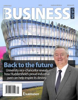 The front cover of the relaunched Kirklees business News