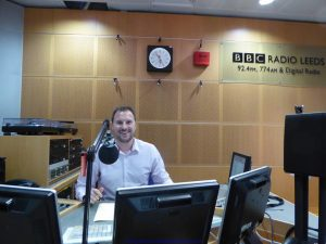 Sports editor Gareth Jones in the studio