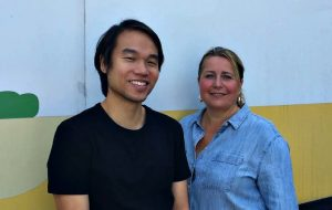 Edward Yau with Prodo Digital's MD Pippa Adams