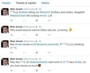 A screenshot of the tweets from Anwar's account