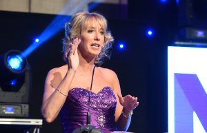 ITV's Emma Jesson co-hosted the awards with Andy Crane