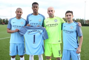 City players mark the new deal