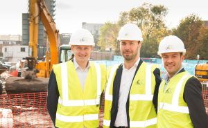(l to r) Social's Chris Walker, LK Group's Conor Leyden and Social's Tim Niblock