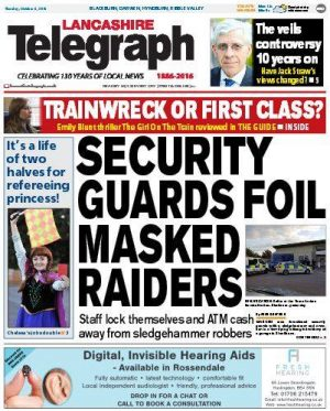 The new weekly will be a sister title to the Lancashire Telegraph